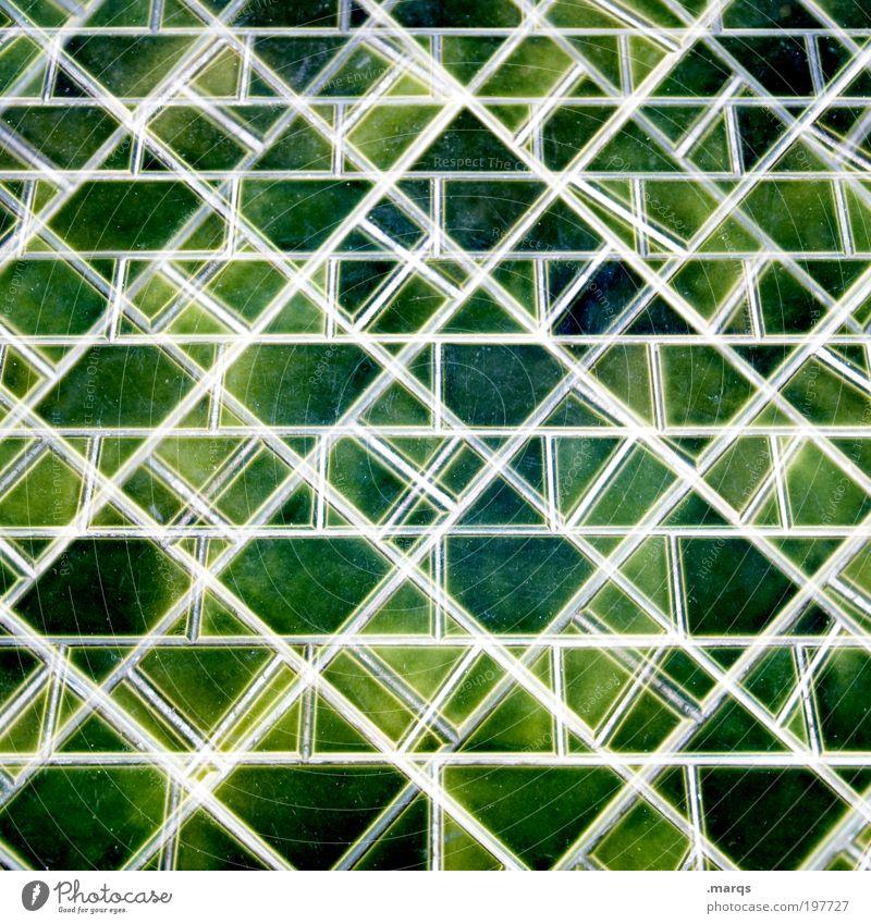 Mosaik grün Farbe Linie Hintergrundbild Design Lifestyle Muster Dekoration & Verzierung einzigartig außergewöhnlich Fliesen u. Kacheln Kreativität viele chaotisch Doppelbelichtung