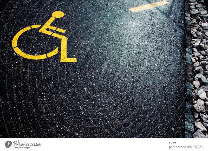 Roll-over schwarz gelb Straße Wege & Pfade Stil Linie Freizeit & Hobby sitzen Verkehr Lifestyle Schilder & Markierungen Design Streifen Grafik u. Illustration