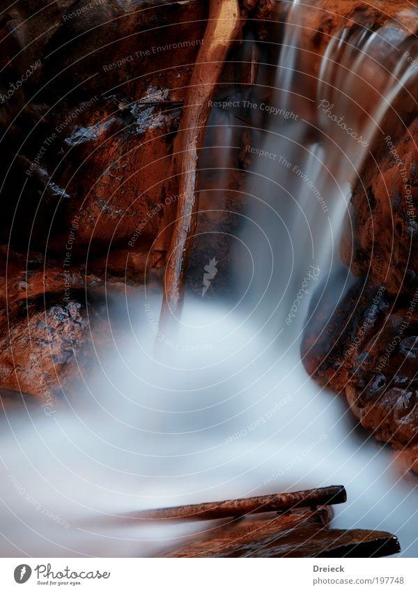 wet Lauf III Natur Wasser weiß schwarz ruhig Erholung Umwelt Landschaft gelb kalt Bewegung Holz Stein Park braun Felsen