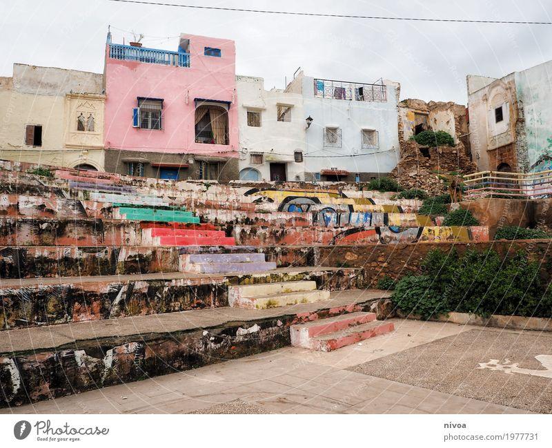 Azzemour Ferien & Urlaub & Reisen Ausflug Abenteuer Ferne Sportstätten Kunst Künstler Kunstwerk Himmel Marokko Dorf Kleinstadt Haus Hütte Platz Gebäude Mauer