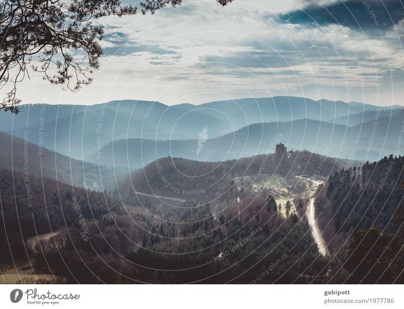 Berg und Tal Erholung Ferien & Urlaub & Reisen Ausflug Ferne Freiheit Berge u. Gebirge wandern Umwelt Natur Landschaft Erde Luft Himmel Wolken Wetter