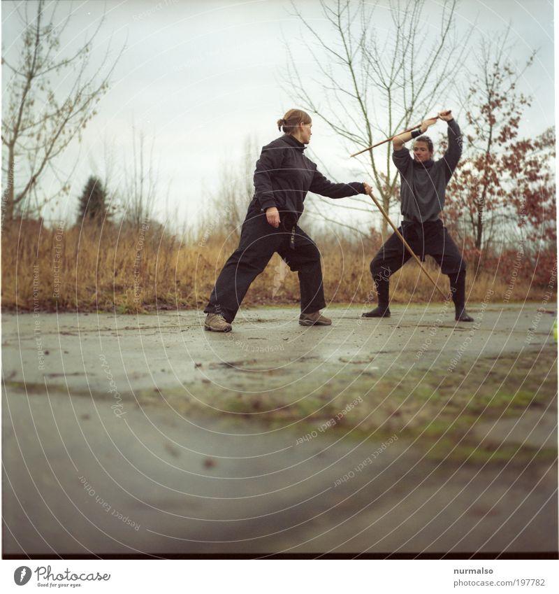 Kampfgeist Leben Sinnesorgane Freizeit & Hobby Kampfsport Sport Fitness Sport-Training Mensch maskulin feminin Paar 2 18-30 Jahre Jugendliche Erwachsene Kunst