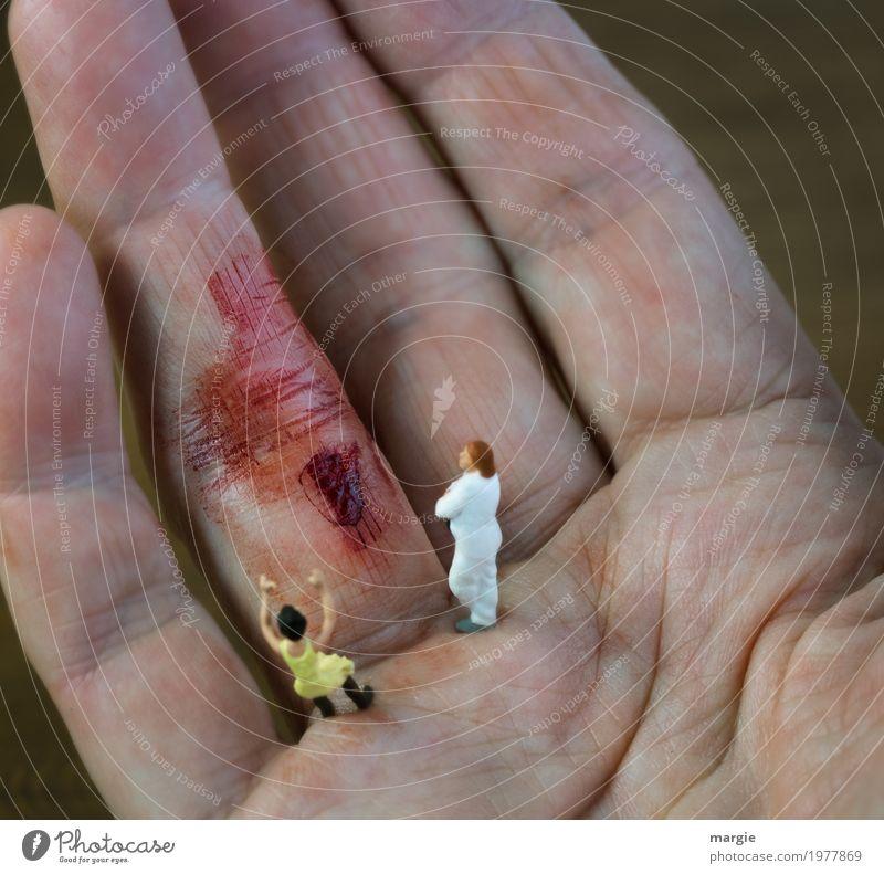 Miniwelten - Auutsch II Mensch Frau Mann Hand rot Erwachsene Gesundheit feminin Gesundheitswesen maskulin Haut Finger Beruf Krankheit Schmerz
