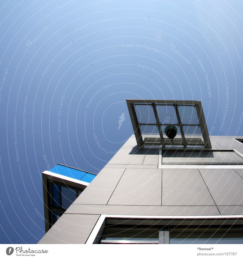 günstiger alternativurlaub blau Ferien & Urlaub & Reisen Haus Erholung oben Architektur grau Stil Gebäude Wohnung Fassade Design modern Häusliches Leben Sicherheit Sauberkeit