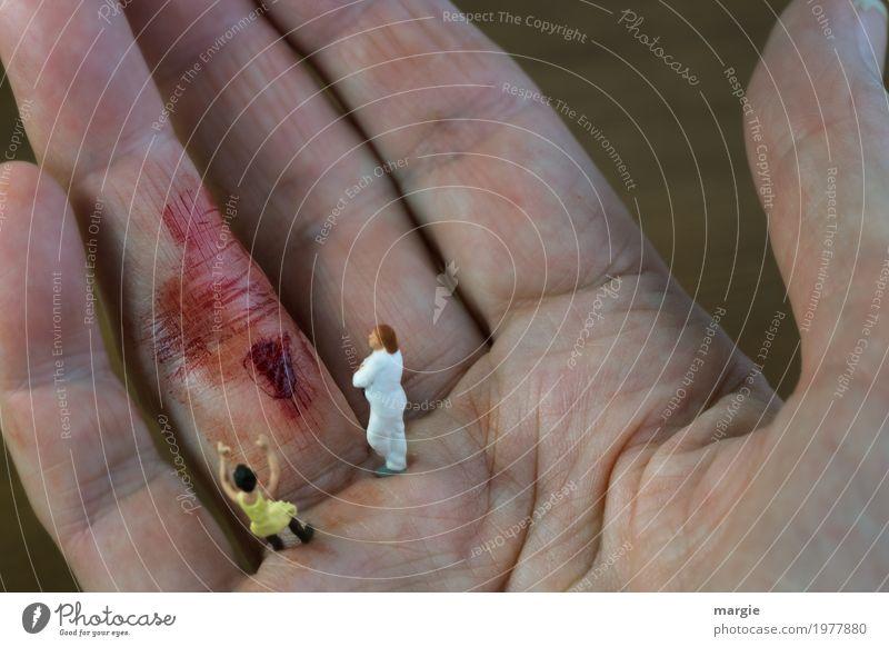 Miniwelten - Auutsch Mensch Frau Mann Hand rot Erwachsene Gesundheit feminin Gesundheitswesen rosa maskulin Angst Finger Krankheit Schmerz Arzt