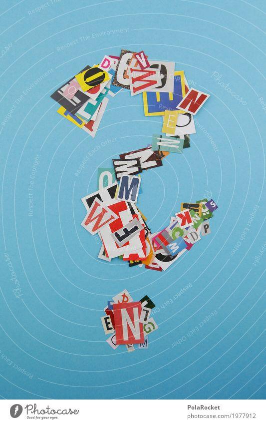 #AS# Fragezeichen Kunst Kunstwerk ästhetisch Telekommunikation Kommunizieren Buchstaben gebastelt Kreativität gestalten Dekoration & Verzierung Fragen