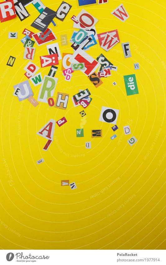#A# Wörterregen gelb sprechen Kunst Design Ordnung ästhetisch Kommunizieren Kreativität Telekommunikation Vergänglichkeit Buchstaben viele Kitsch Suche