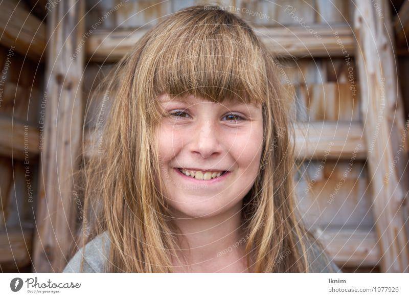 Lachen im Gesicht Mensch Kind schön Freude Leben Gesundheit feminin lachen Glück Zufriedenheit frisch blond Kindheit authentisch Lächeln