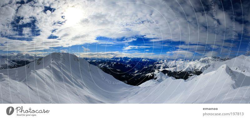 graubünden Ferien & Urlaub & Reisen Tourismus Ausflug Freiheit Winter Schnee Winterurlaub Berge u. Gebirge Klettern Bergsteigen Landschaft Himmel Wolken Klima