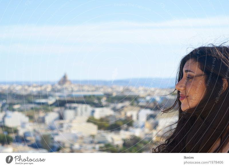 Urlaubsluft Mensch Frau Ferien & Urlaub & Reisen Jugendliche Erholung ruhig Freude 18-30 Jahre Erwachsene Leben Gesundheit feminin Glück Tourismus Zufriedenheit
