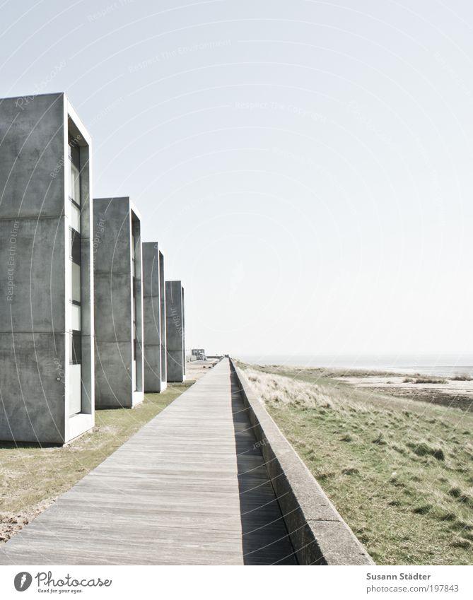 am Meer wohnen Strand Ferien & Urlaub & Reisen Haus Fenster Landschaft hell Küste Architektur gehen elegant frei Fassade Insel Häusliches Leben