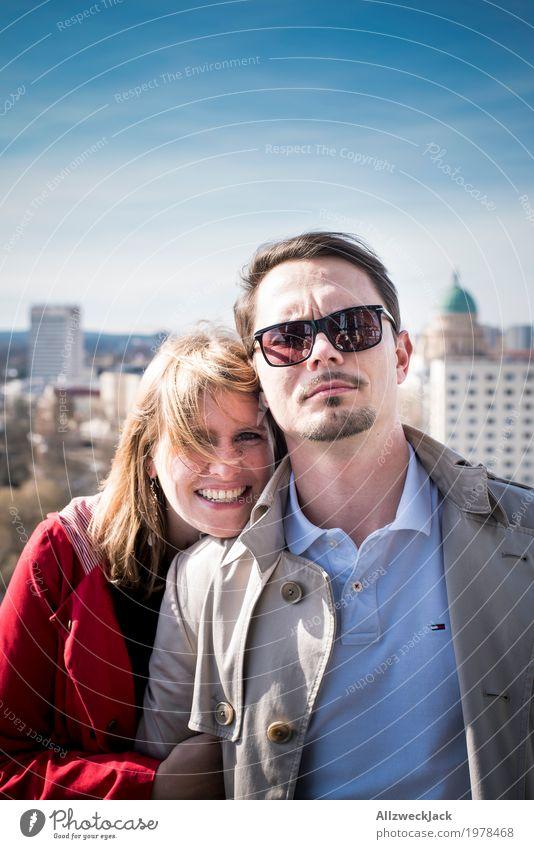 Couple Portrait Ferien & Urlaub & Reisen Tourismus Sightseeing Städtereise Mensch maskulin feminin Junge Frau Jugendliche Junger Mann Erwachsene Paar Leben 2