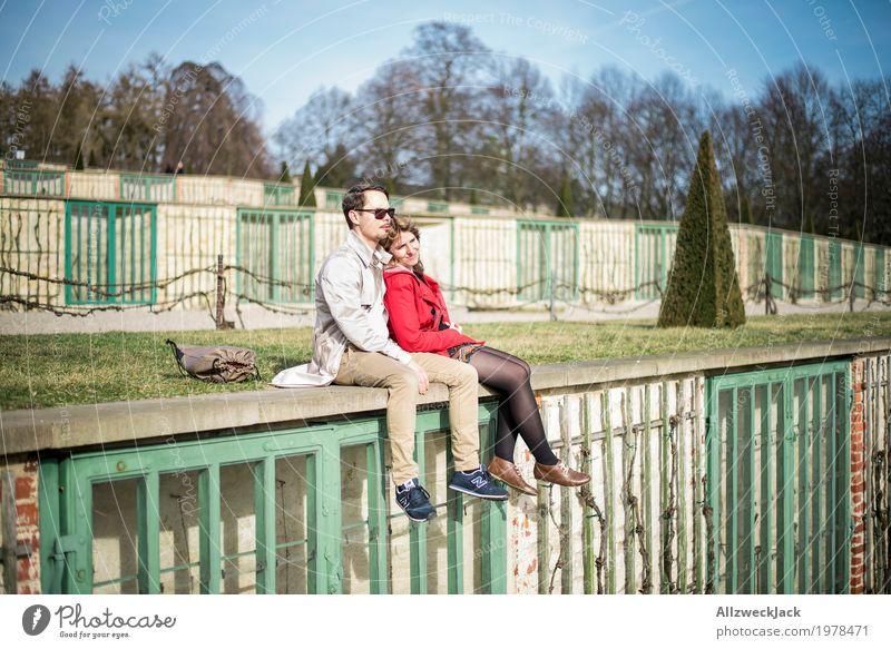Sonnenanbeter Mensch Frau Jugendliche Mann Junge Frau Junger Mann Erholung ruhig 18-30 Jahre Erwachsene Leben Liebe feminin Glück Paar Zusammensein