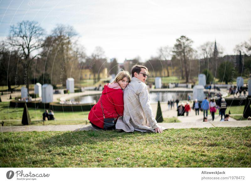Erwischt Freude Ausflug Sightseeing Städtereise Mensch maskulin feminin Junge Frau Jugendliche Junger Mann Erwachsene Paar Leben 2 18-30 Jahre 30-45 Jahre Park