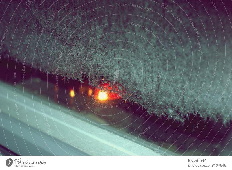Wintertraum Kerze Winter Frost Kerz Zeichen Warmherzigkeit kalt Farbfoto Außenaufnahme Abend