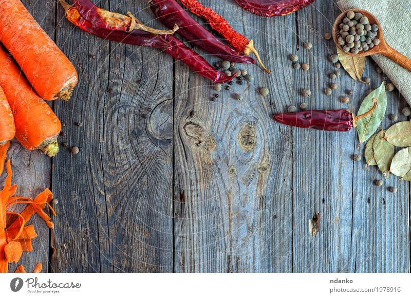 alt rot Essen Holz Lebensmittel grau oben orange Ernährung frisch Tisch Kräuter & Gewürze Gemüse Top Vegetarische Ernährung Diät