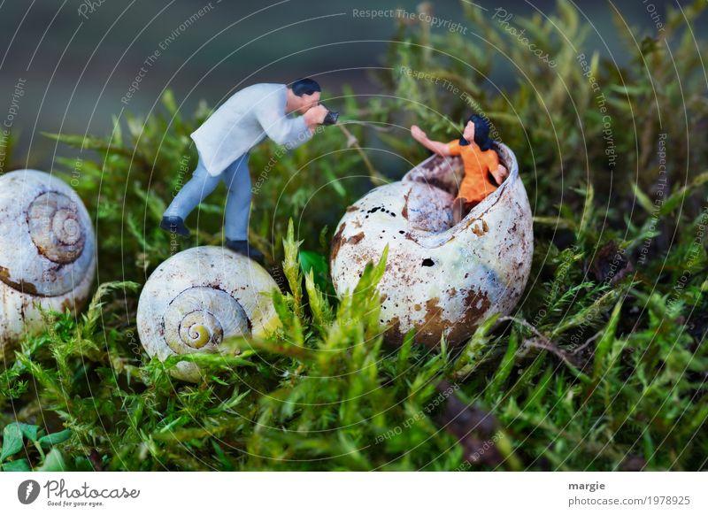 Miniwelten - Foto Shooting II (mit time.) Beruf Medienbranche Mensch maskulin feminin Junge Frau Jugendliche Mann Erwachsene 2 Natur Pflanze Gras Moos Tier
