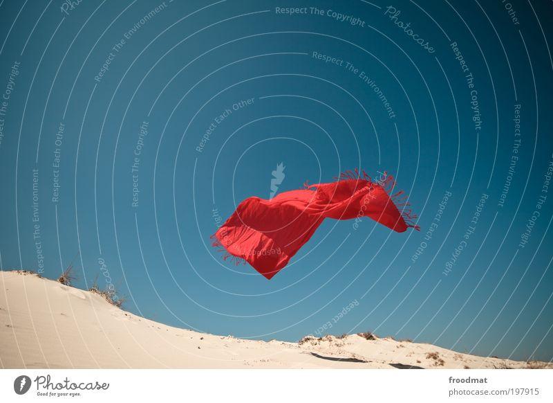fliegender teppich Himmel Natur rot Sommer Landschaft Bewegung Sand Luft Horizont Erde Wind außergewöhnlich Urelemente Schönes Wetter Wüste fantastisch