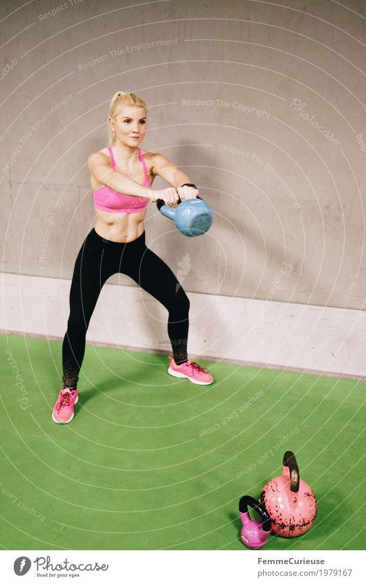 Fitness_05_1979167 Lifestyle feminin Junge Frau Jugendliche Erwachsene Mensch 18-30 Jahre Bewegung Fitness-Center Gesundheit Lebensfreude Willensstärke