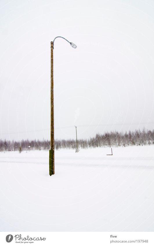 luosto XIII Himmel Ferien & Urlaub & Reisen weiß Baum Pflanze Winter Wolken Ferne Straße kalt Schnee Freiheit Wege & Pfade Lampe Eis Ausflug