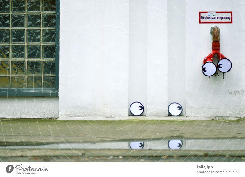 nah am wasser Mensch Wasser Fenster Auge Wand Traurigkeit Mauer Trauer Straßenkunst Pfütze Comic Tränen Witz trösten unsicher