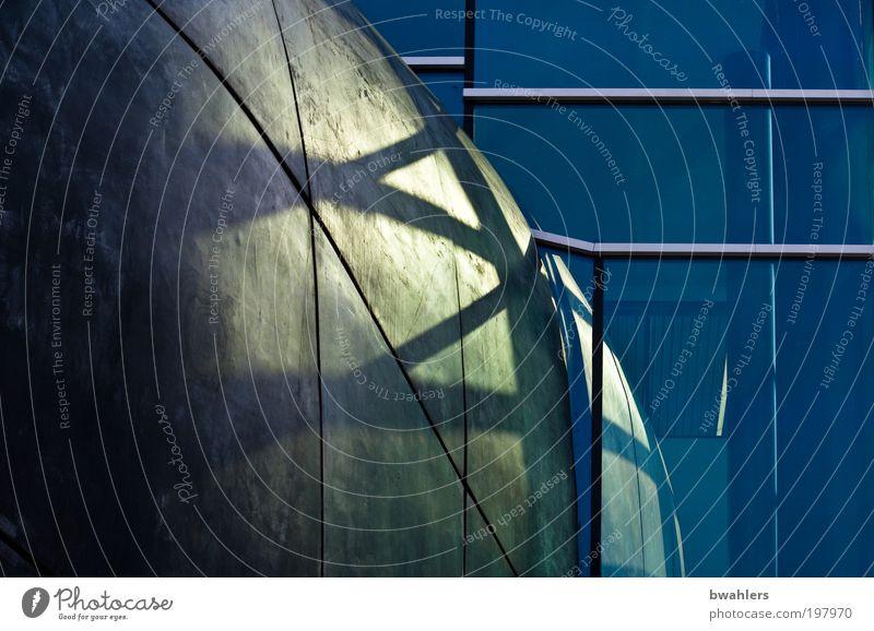 außen und innen blau Architektur grau Stein Gebäude Metall Kunst Glas Fassade Bauwerk