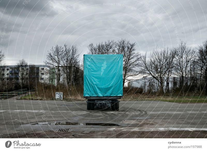 [HAL] Big Cyan Pixel ruhig Wolken Einsamkeit Leben Stil Bewegung träumen Wege & Pfade Landschaft planen Design Umwelt Zeit Verkehr trist Güterverkehr & Logistik