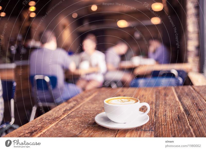 Cappuccino Frühstück Getränk Heißgetränk Kaffee Tasse Innenarchitektur Dekoration & Verzierung Tisch Duft hell trendy lecker braun weiß Warmherzigkeit