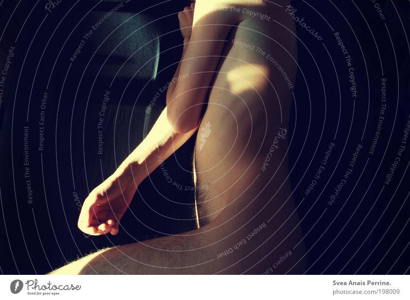 mein wertvollstes. Mensch Jugendliche blau schön Erwachsene gelb dunkel kalt Erotik Akt Beine Stimmung Körper Zufriedenheit Rücken Haut