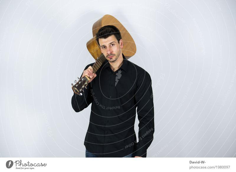 guitar Mensch Jugendliche Mann Junger Mann Erotik 18-30 Jahre Erwachsene Leben Lifestyle Spielen Feste & Feiern Freizeit & Hobby maskulin Musik Erfolg