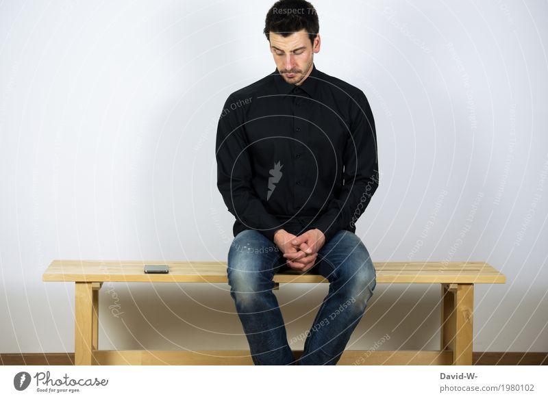 abhängigkeit Mensch Jugendliche Mann Junger Mann Freude Erwachsene Leben Lifestyle Gesundheit Stil Business Freizeit & Hobby maskulin sitzen Computer Zukunft