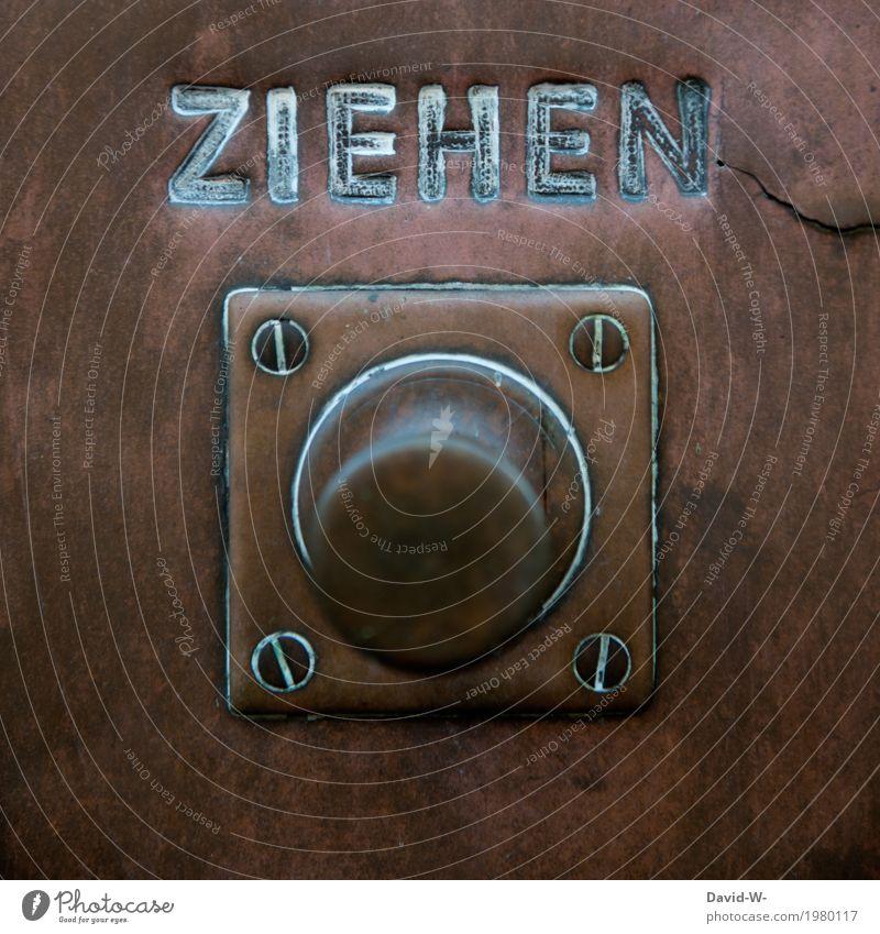 pull Mensch alt Hand Haus Architektur Kunst Freiheit Tourismus Wohnung Metall träumen Häusliches Leben Ausflug Schriftzeichen Tür Schilder & Markierungen