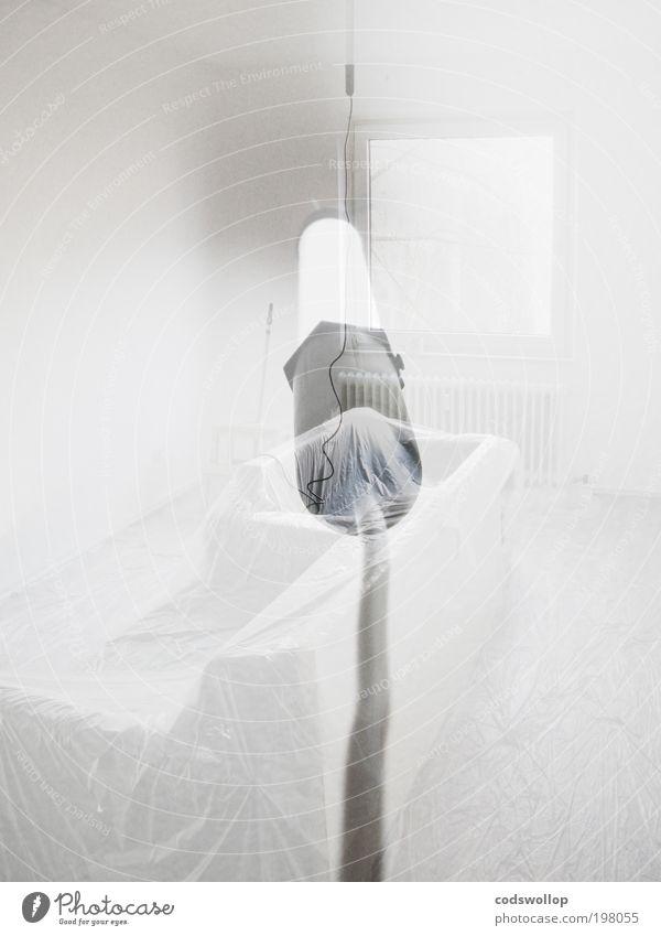 lights in white satin weiß Lampe Wohnung ästhetisch außergewöhnlich Elektrizität Kabel Häusliches Leben Sauberkeit rein Sofa Wohnzimmer Doppelbelichtung
