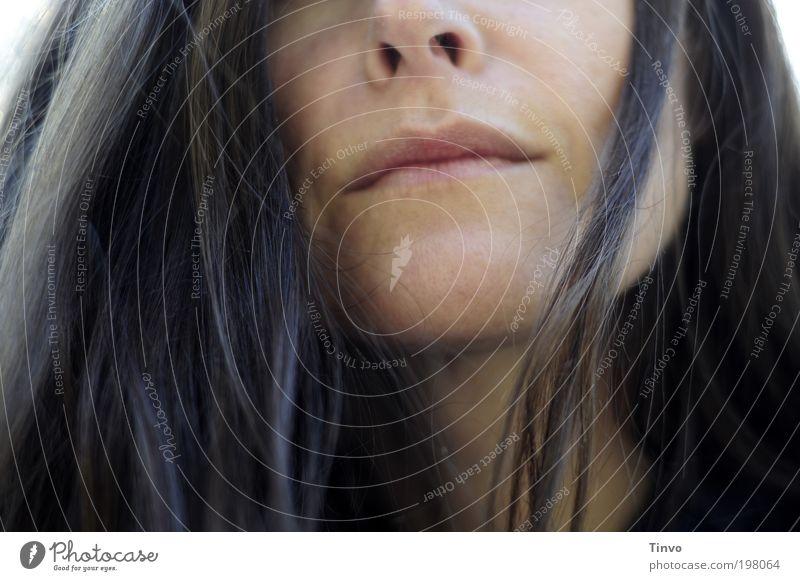 come as you are Frau ruhig Erwachsene feminin Kopf Haare & Frisuren Mund Nase natürlich einzigartig brünett langhaarig Wahrheit Mensch