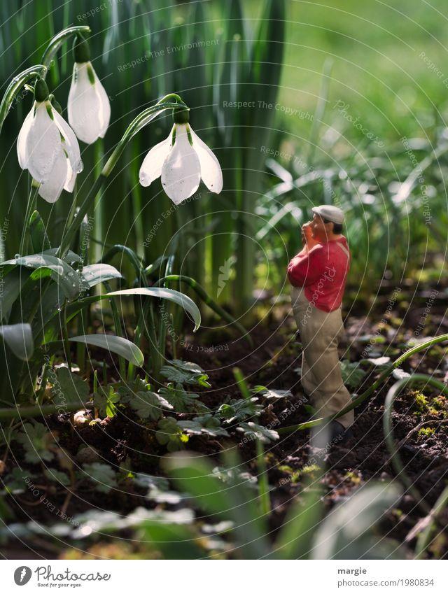 Miniwelten - Ich höre nichts II Freizeit & Hobby Gartenarbeit Arbeitsplatz Landwirtschaft Forstwirtschaft Dienstleistungsgewerbe Mensch maskulin Mann Erwachsene