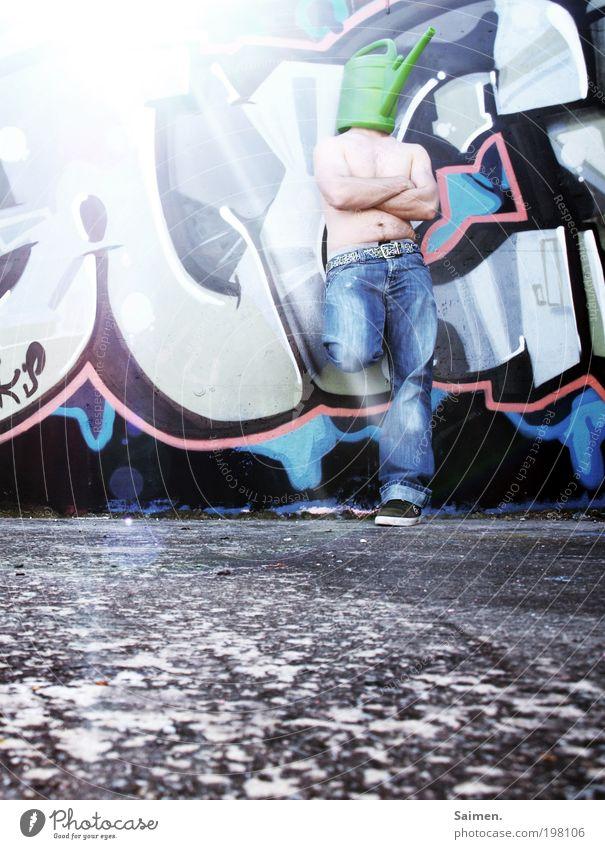 200- vollekanne chillen Mensch Mann Sonne Erwachsene Erholung Leben Graffiti träumen maskulin Design ästhetisch außergewöhnlich verrückt Lifestyle stehen einzigartig