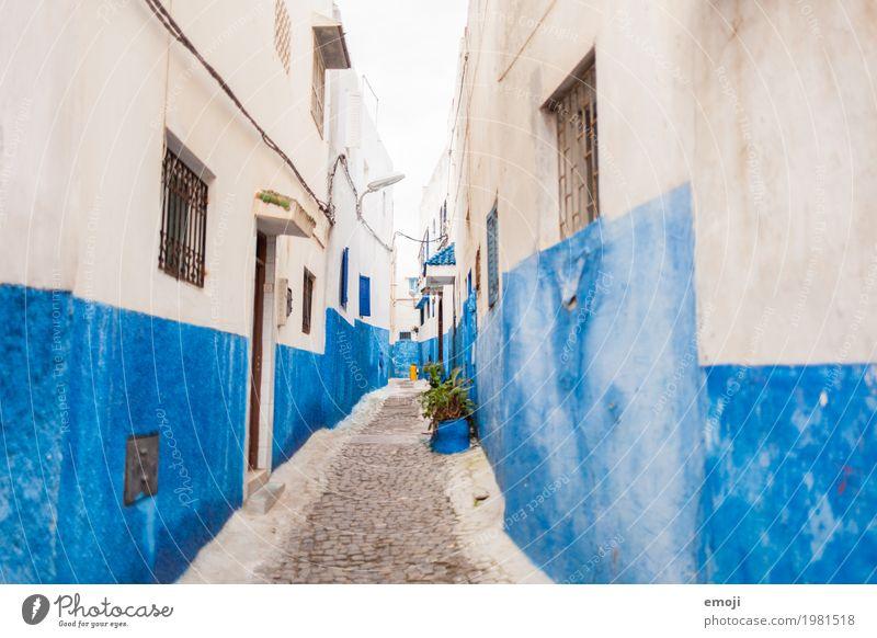 Marokko Dorf Fischerdorf Kleinstadt Stadt Altstadt Haus Mauer Wand Fassade Sehenswürdigkeit alt blau mediterran Ferien & Urlaub & Reisen Urlaubsfoto Urlaubsort
