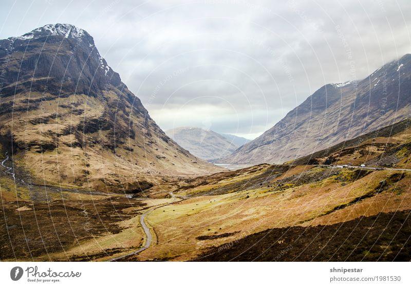 Glen Coe, schottische Highlands Natur Ferien & Urlaub & Reisen Landschaft Erholung Berge u. Gebirge Umwelt Gras Tourismus außergewöhnlich Felsen Regen wandern