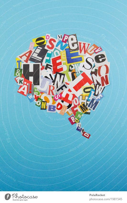 #A# Sprechblase Kunst Kunstwerk ästhetisch Telekommunikation sprechen Kommunizieren Kommunikationsmittel Kreativität Sprache Fremdsprache unordentlich viele