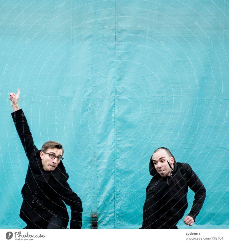[HAL] Streber Mensch Mann Jugendliche Freude Erwachsene Leben Freiheit Bewegung springen Stil Freundschaft Energie Design Aktion Lifestyle 18-30 Jahre