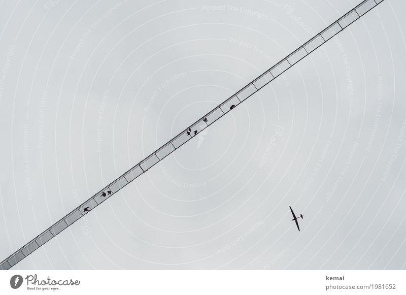 Skywalk Mensch Ferien & Urlaub & Reisen Ferne klein außergewöhnlich Freiheit Menschengruppe oben Freizeit & Hobby Ausflug hoch Abenteuer Flugzeug Brücke