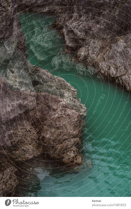 Klamm Leben harmonisch Sinnesorgane Freizeit & Hobby Abenteuer Freiheit Umwelt Natur Landschaft Urelemente Wasser Felsen Berge u. Gebirge Fluss außergewöhnlich
