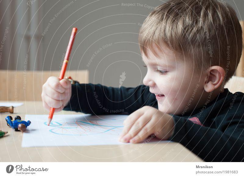 malen Freizeit & Hobby Spielen Mensch Kind Kleinkind Junge Kindheit Leben 1 1-3 Jahre Lächeln zeichnen frech Freundlichkeit natürlich Freude Glück Fröhlichkeit