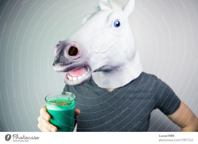 Zauberhaft Lebensmittel Kaffeetrinken Vegetarische Ernährung Slowfood Getränk Heißgetränk Latte Macchiato Glas Gesundheit Gesunde Ernährung Mensch 1 Tier Pferd