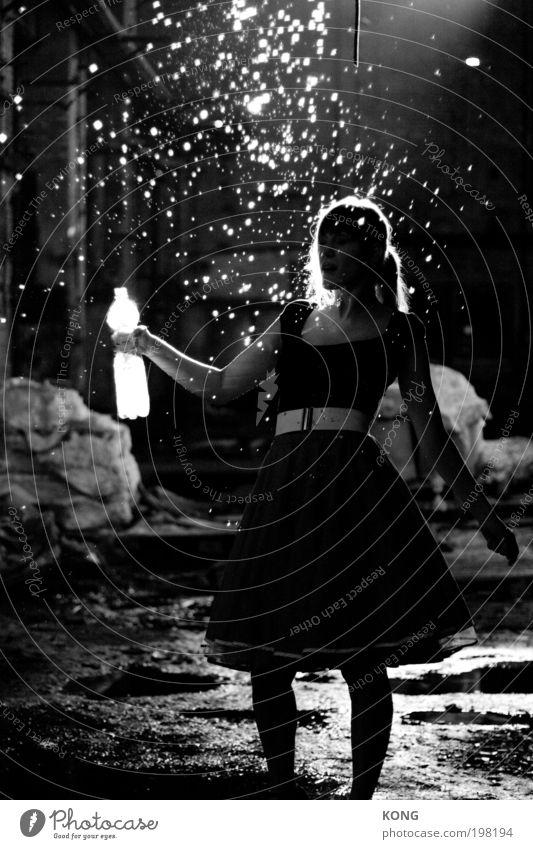 sterntaler liquid Frau Jugendliche Wasser Freude feminin Tanzen Feste & Feiern Stern Erwachsene elegant frei frisch Getränk ästhetisch Tropfen Reinigen