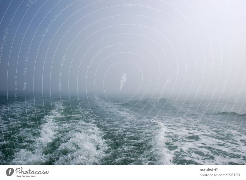 feuchte luft Himmel Natur blau Meer Umwelt Freiheit See träumen Wellen Nebel nass Ausflug leer Neugier geheimnisvoll Schifffahrt