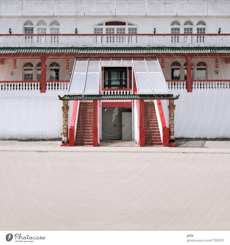 chinatown weiß rot Haus Straße Fenster Wand Architektur Gebäude Mauer Tür elegant Platz Treppe groß ästhetisch