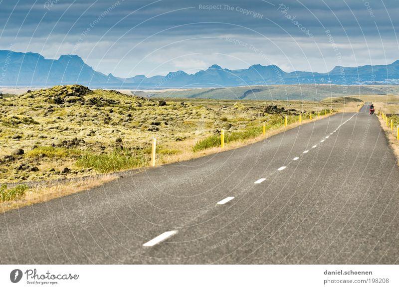 Fernweh !!!!! Ferien & Urlaub & Reisen Ferne Freiheit Fahrradtour 1 Mensch Umwelt Natur Landschaft Berge u. Gebirge Verkehrswege Straße Wege & Pfade Freude Mut