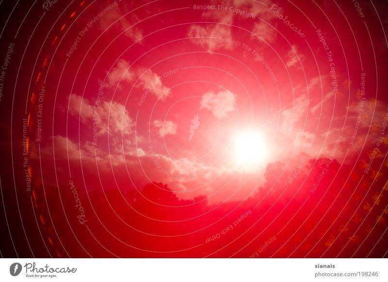 Muleta Natur Himmel Sonne rot träumen Wärme Landschaft Luft Umwelt Klima heiß Wut außergewöhnlich Stoff Schönes Wetter Umweltverschmutzung