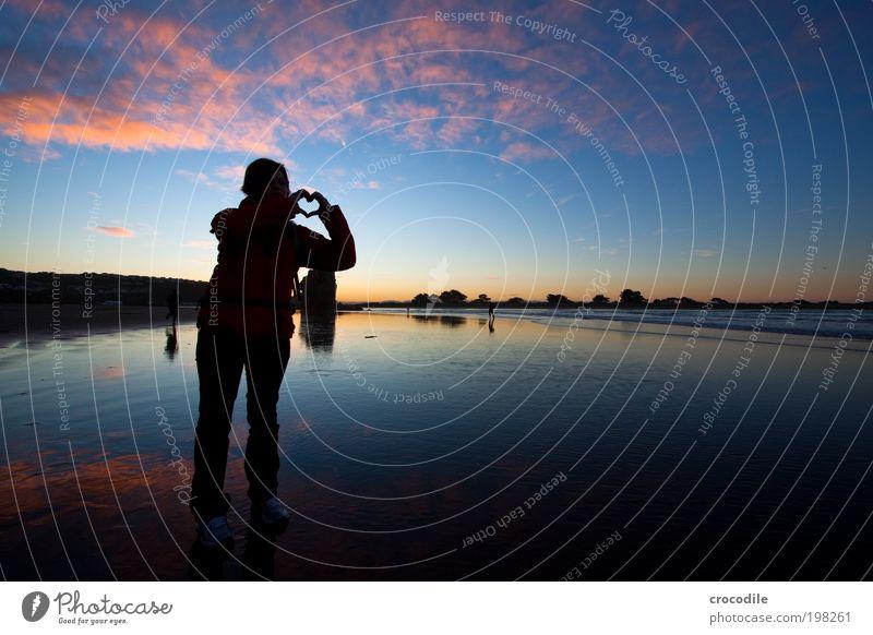 I love New Zealand (XXXIII) 18-30 Jahre Jugendliche Erwachsene Umwelt Natur Landschaft Sand Wolken Sonne Sonnenaufgang Sonnenuntergang Sonnenlicht